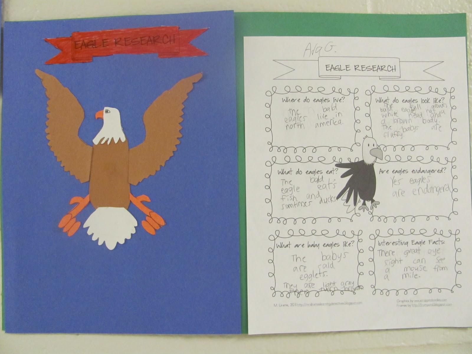 Mrs Lirette S Learning Detectives Eagle Research Freebie